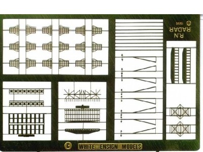 WEM 1/700 Post-War RN Radars (PE 701)