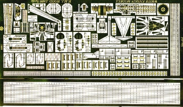 White Ensign Models 1//600 HMS Hood Photo-etched parts for Airfix kit