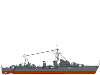 HMS Eskimo Colour Print (P036)