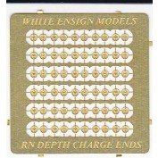 WEM 1/350 RN/USN Depth Charge End Caps (PE 35129)