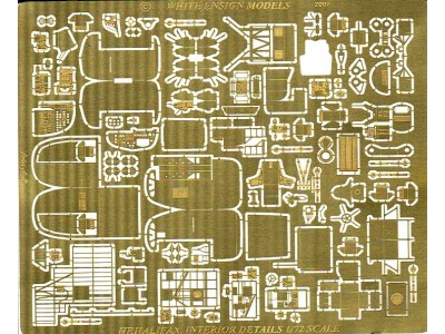 WEM 1/72 Handley Page Halifax Interior Detail Set (PE 7244)